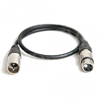 3 pin XLR-3 Female to XLR-3 Male Balanced Audio Cable (12inch / 30cm) SHORT