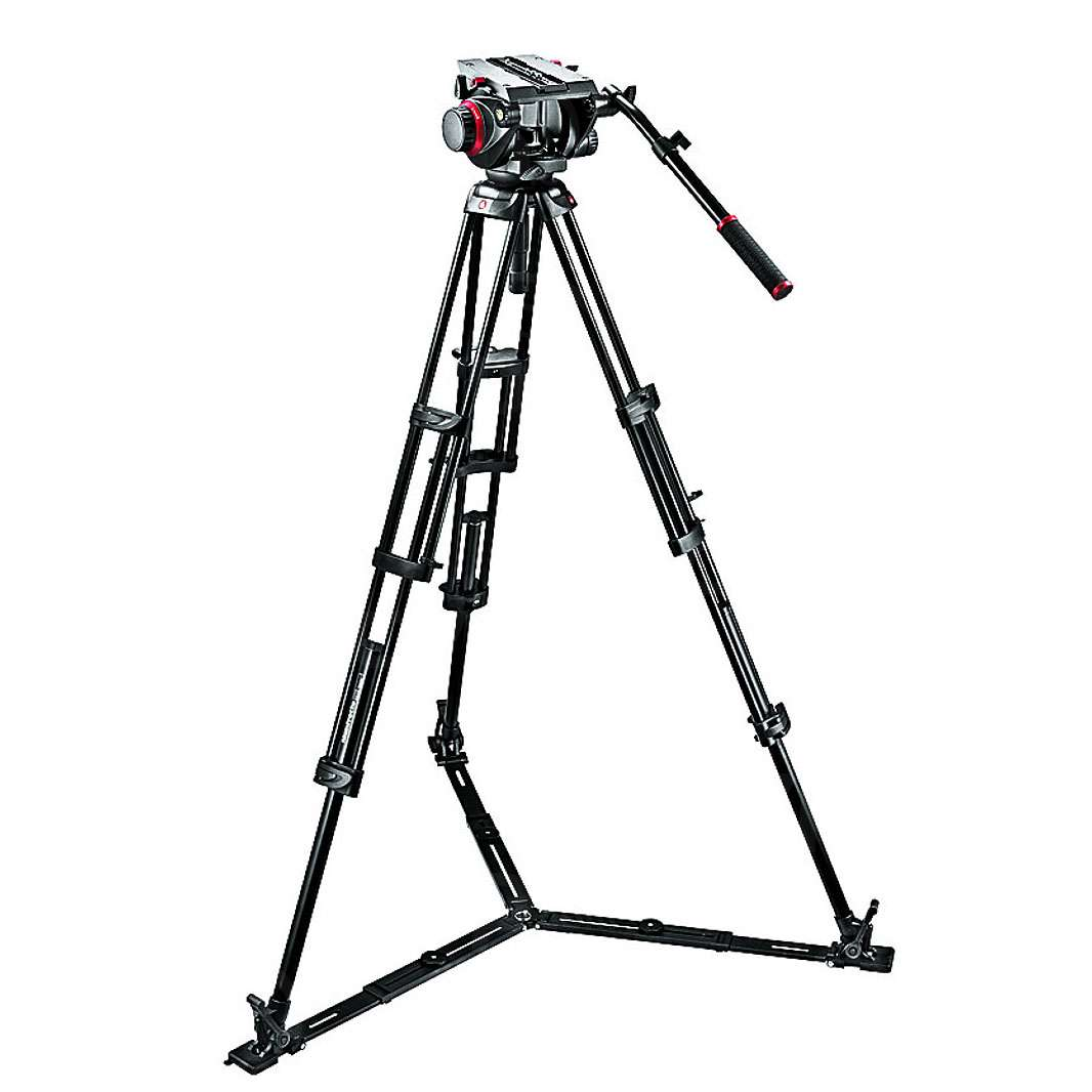 Manfrotto 509HD,545GBK (509HD545GBK) Pro Ground-Twin Kit 100 Tripod System includes
