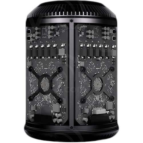 Apple Mac Pro - CPU 2.7GHz 12-Core Intel Xeon E5 with 30MB L3 cache, RAM 64GB, Storage, 1TB PCIe- Based Flash, Graphics Dual AMD FirePro D700 with 6GB GDDR5 VRAM each (Z0P82101462753)