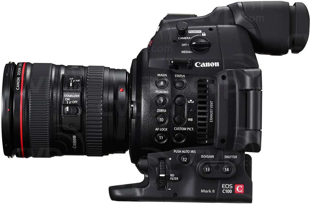 Canon EOS C100 Mark II Super 35mm digital cinematography camcorder