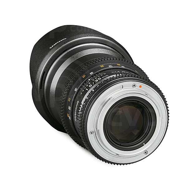 Samyang (7810) 35mm T1.5 VDSLR A UMC II Lens Canon