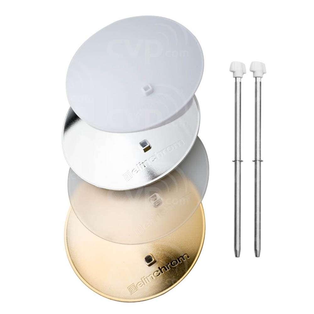Elinchrom EL26310 14cm Deflector Set - Gold Silver, Frost, Translucent