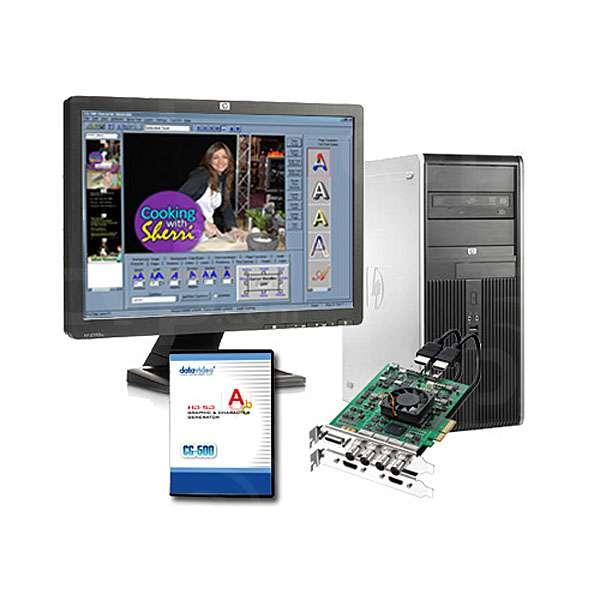 Datavideo DATA-CG500PC (DATA CG500PC) CG-500 SDHD Live CG Turnkey System