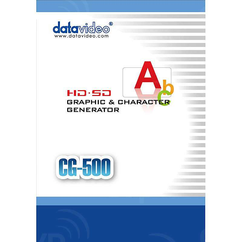 Datavideo DATA-CG500 (DATACG500) CG-500 SD/HD Advanced Timeline Based CG for