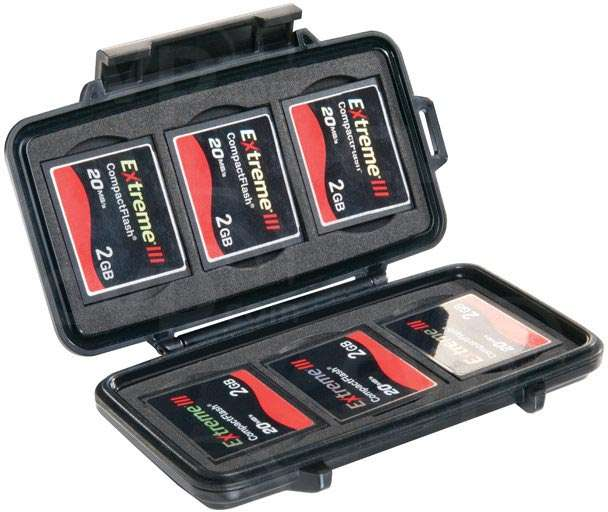 Peli Products 0945 Memory Card Case - fits 6 compact