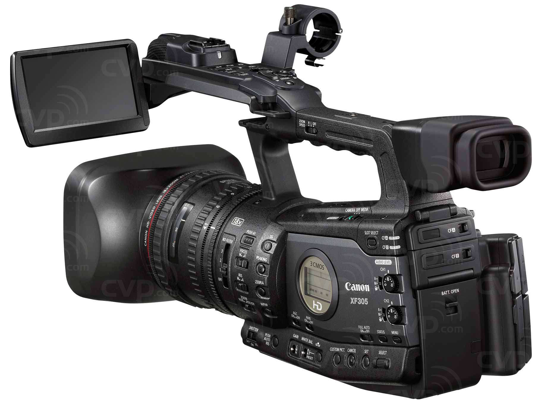 Canon XF305 (XF-305) HD Camcorder - MPEG-2, 50Mbps, 4:2:2 codec,