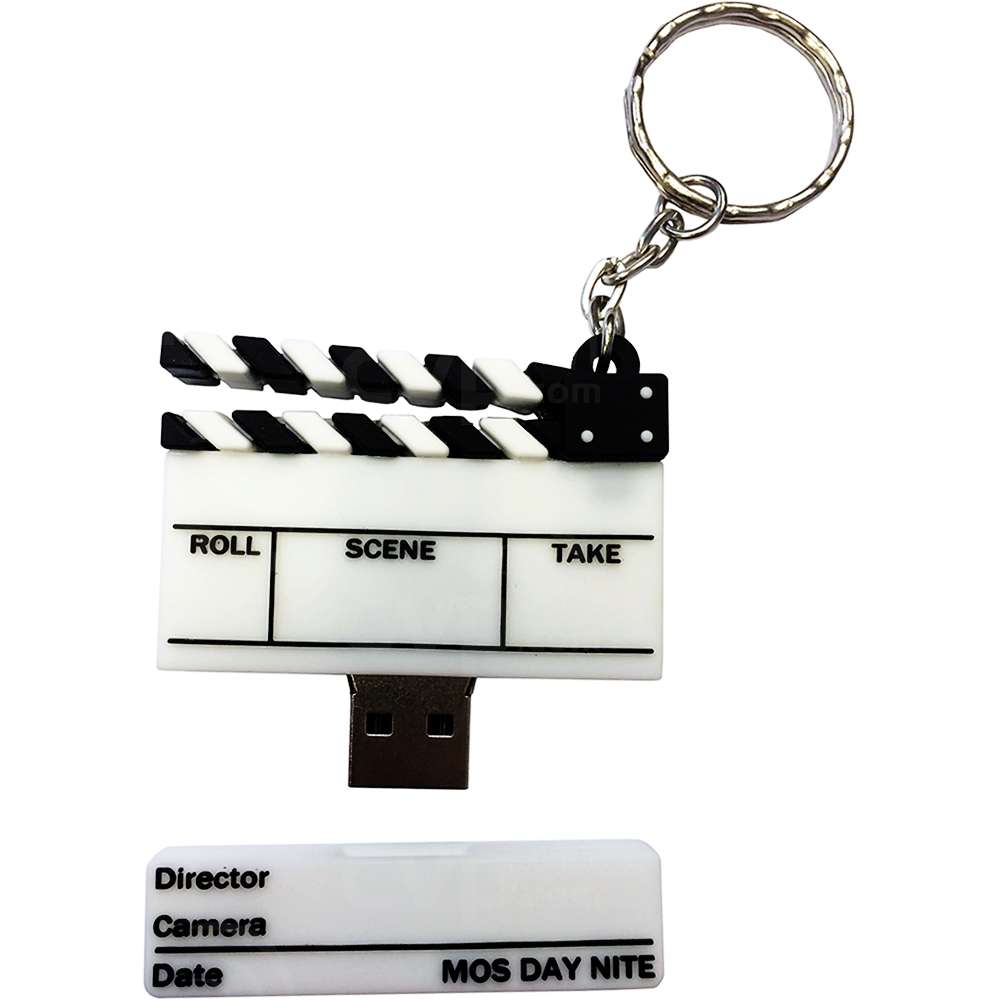 32GB USB 2.0 Clapperboard Memory Stick Keyring