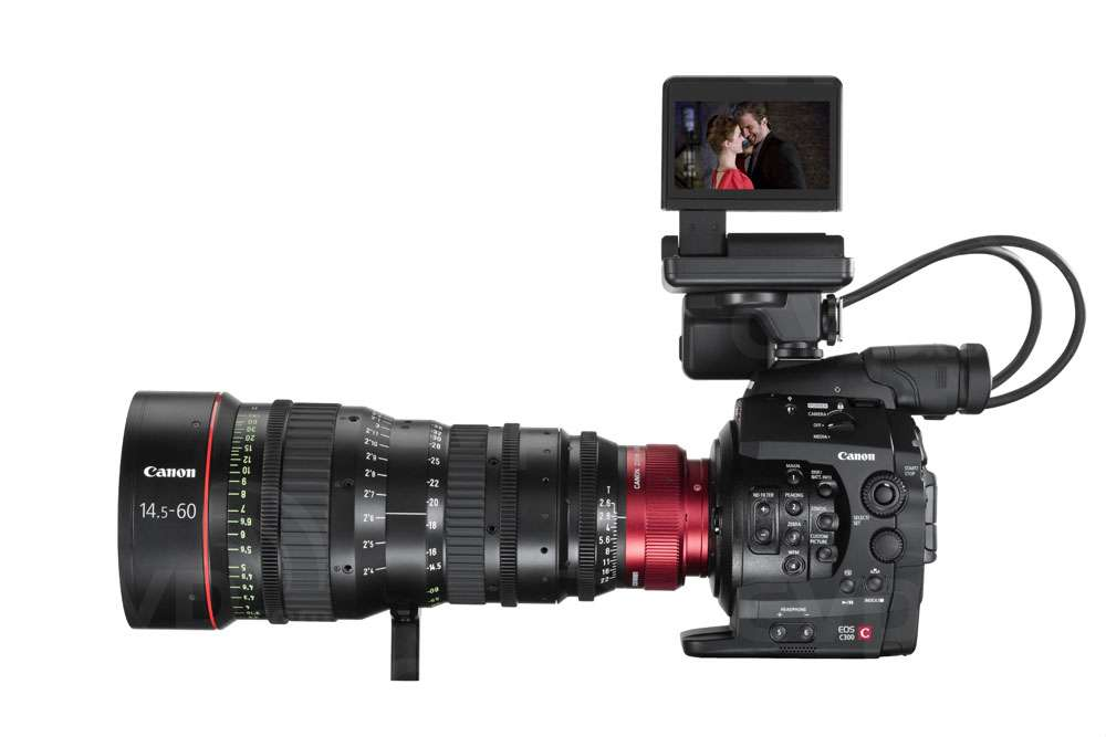 Canon Cinema EOS C300 300 with monitor (lens not supplied)