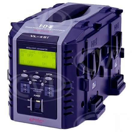 IDX VL-4Si 4 channel v-mount charger with LCD display
