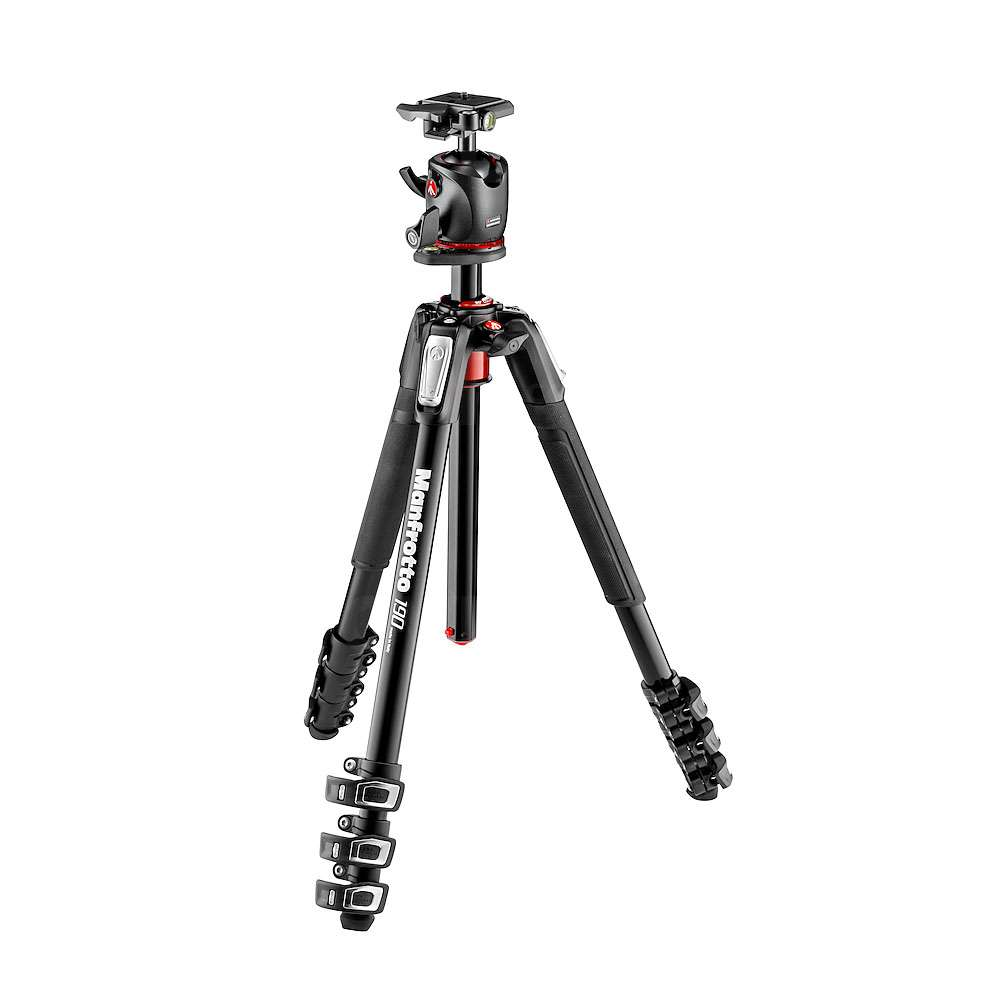 Manfrotto MK190XPRO4-BHQ2 (MK190XPRO4BHQ2) 190 4-Section Aluminium Tripod with XPRO Ball