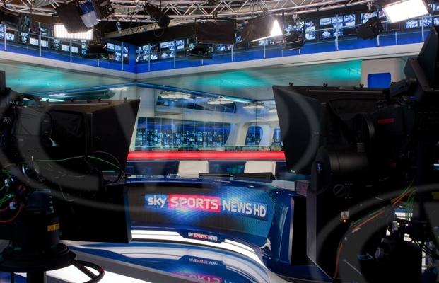karesslites lighting Sky Sports News studio in London