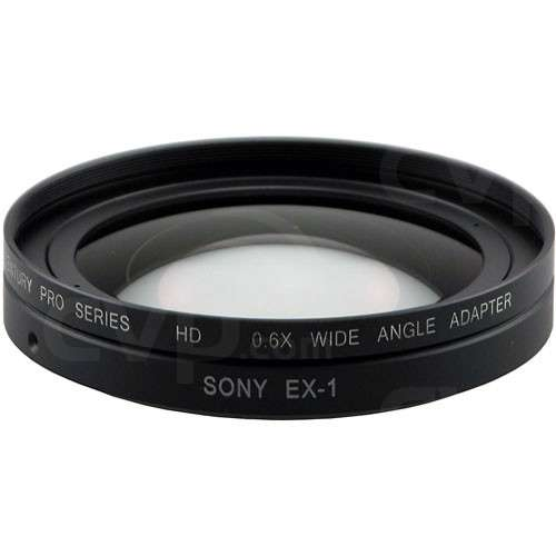 Century Optics 0HD-06WA-EX1 0.6X HD wide angle lens adaptor for the Sony PMW-EX1 / EX3