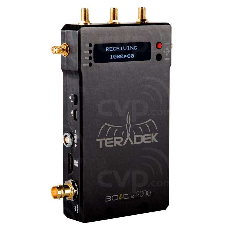 Teradek Bolt Pro 2000 Receiver - uncompressed wireless HD video