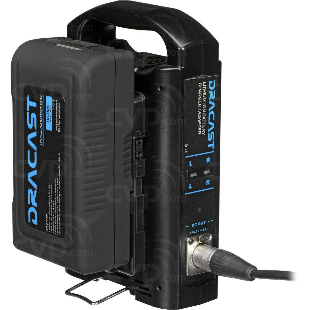 Dracast V-Mount Battery Kit -1x 90Wh Battery and Dual Battery
