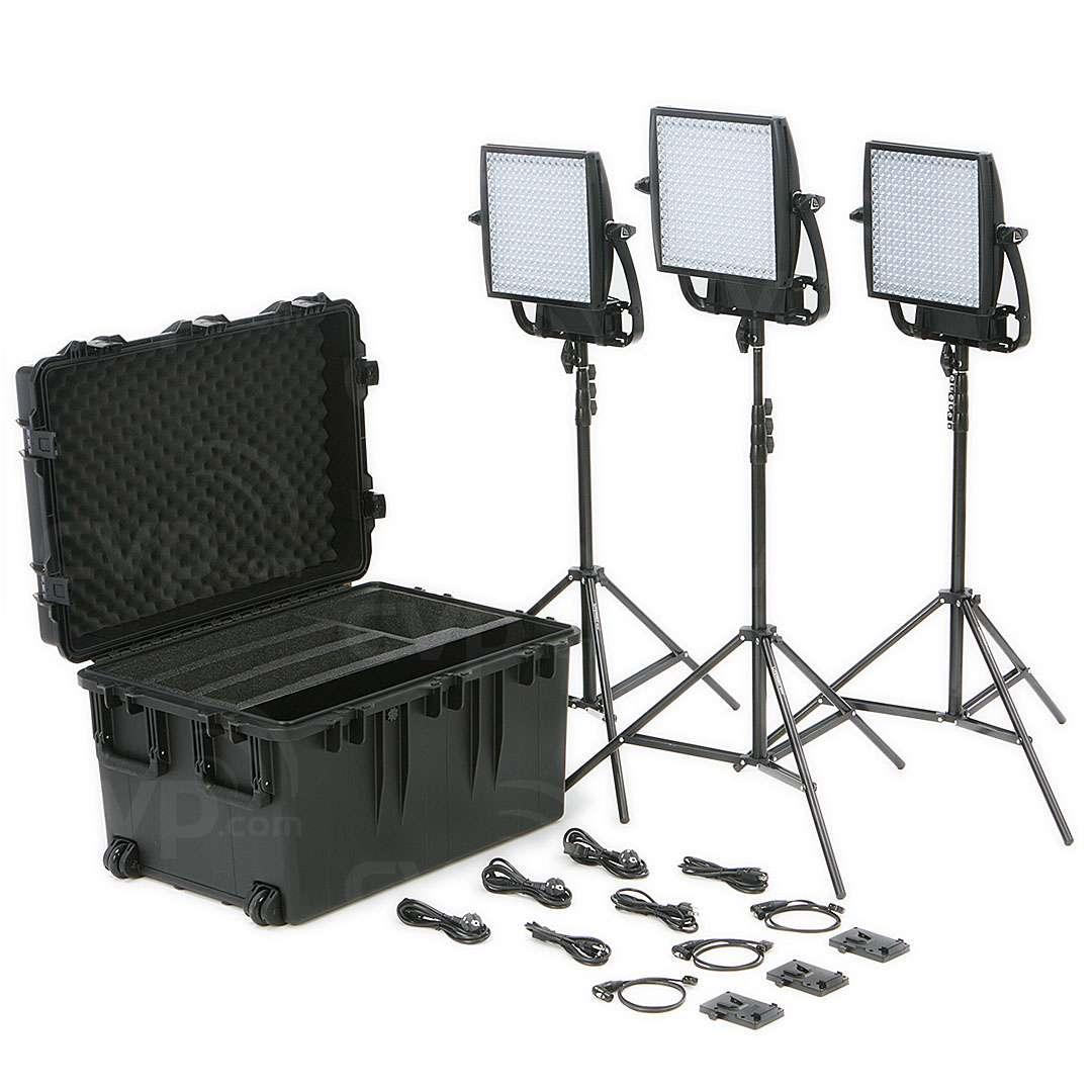 Litepanels Astra 1x1 Traveller Trio V-Mount Light Kit (p/n 935-3002)