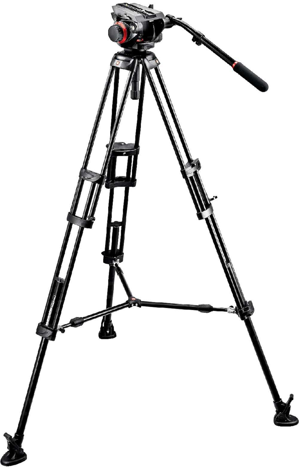 Manfrotto 504HD,546BK (504HD546BK) Tripod System including 1x 504HD Head, 1x