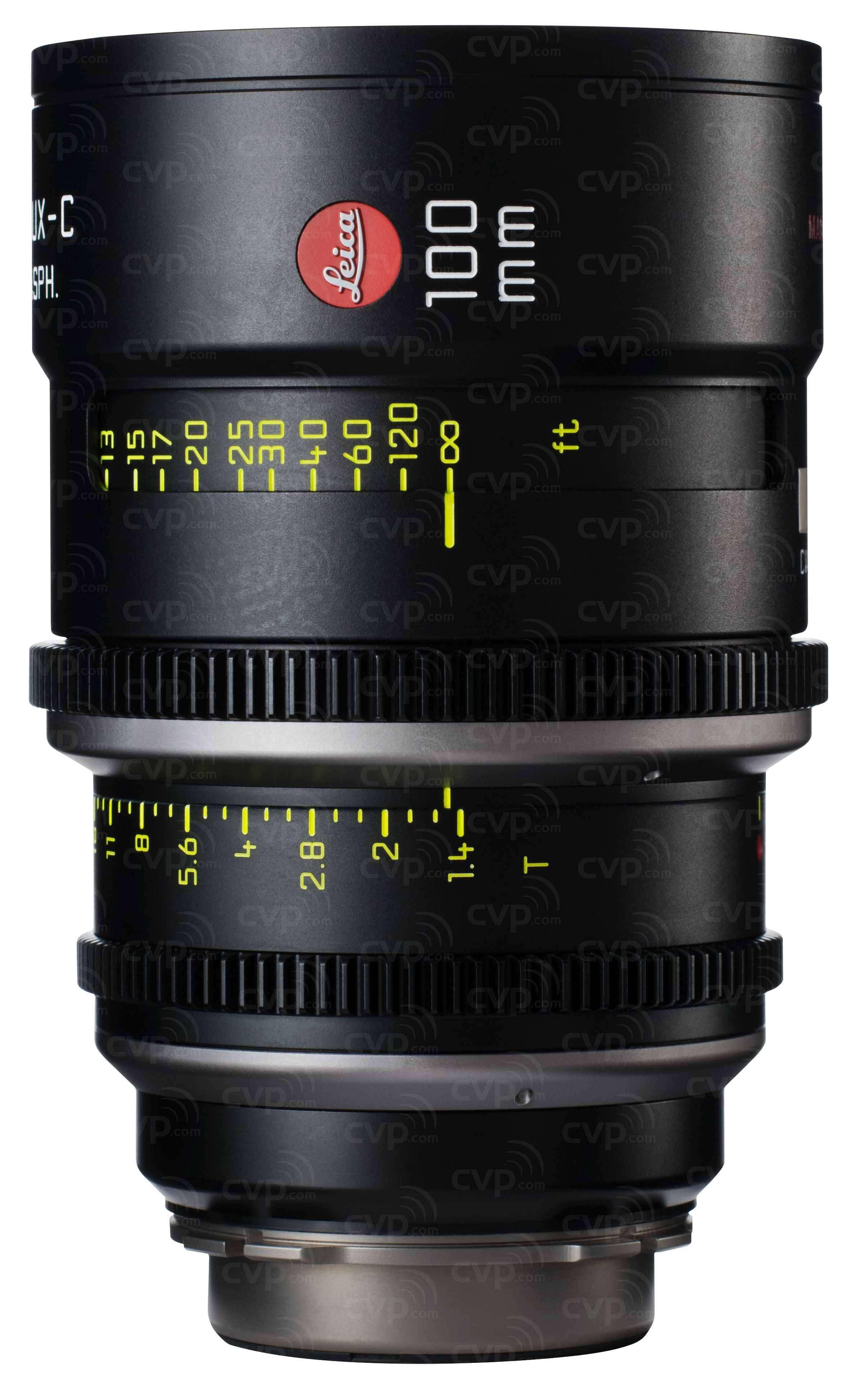 Leica 100mm T1.4 Summilux-C Cine Lens - PL Mount (Imperial)