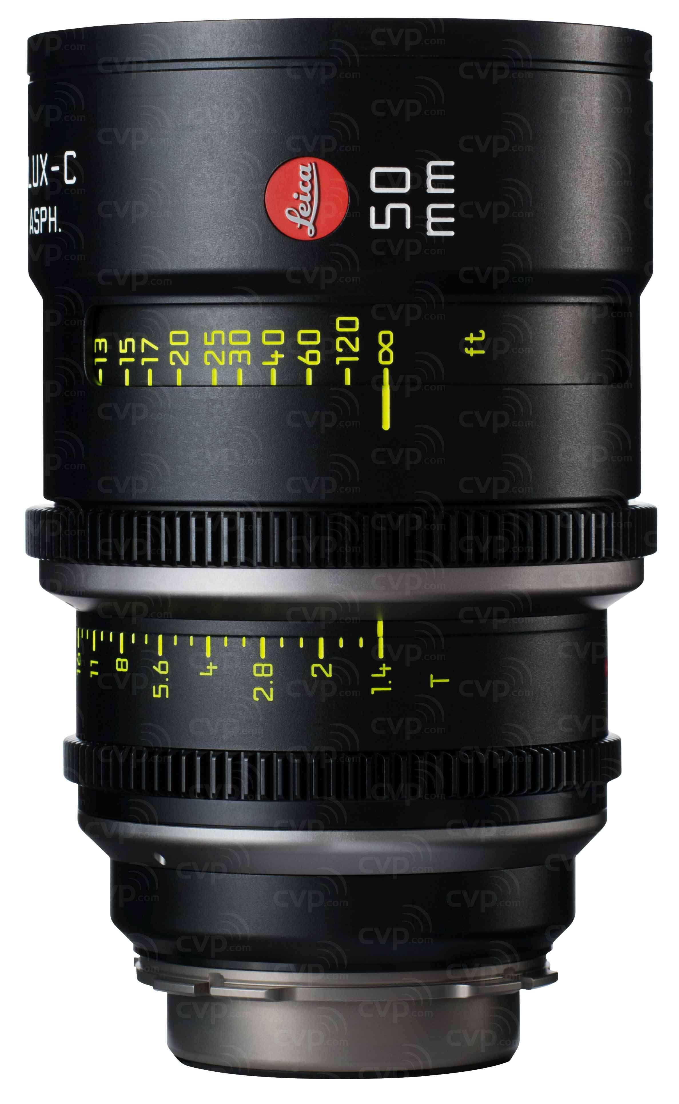 Leica 50mm T1.4 Summilux-C Cine Lens - PL Mount (Imperial)