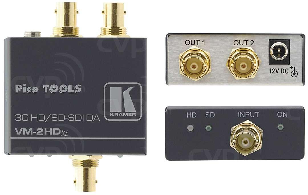 Kramer VM-2HDXL (VM-2HDXL) 1:2 3G HD-SDI Signal Distribution Amplifier