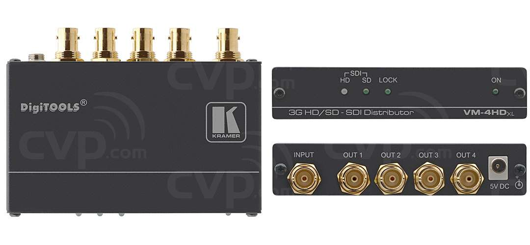 Kramer VM-4HDXL (VM4HDXL) 1:4 3G HD-SDI Video Distribution Amplifier