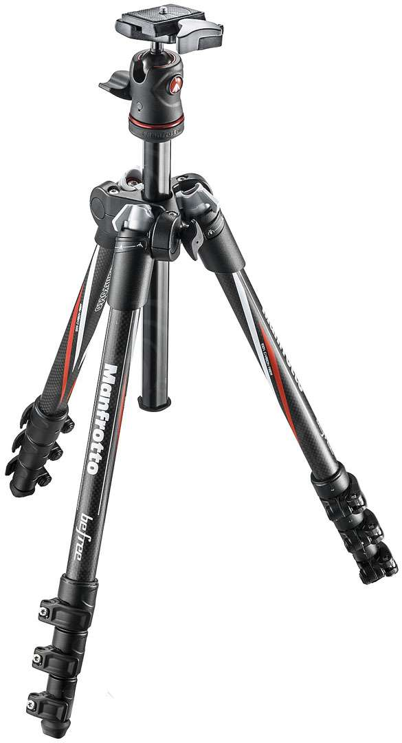 Manfrotto MKBFRC4-BH (MKBFRC4BH) Manfrotto Befree Carbon Fiber Travel Tripod with