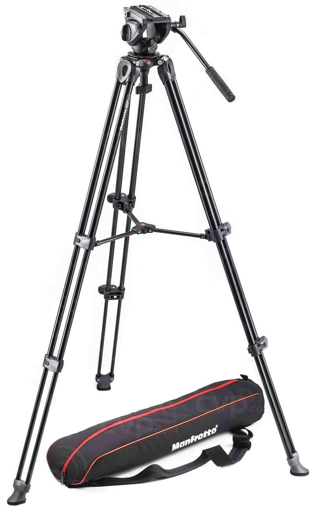 Manfrotto MVK500AM (MVK-500AM) Lightweight Fluid Video Head with Twin Leg