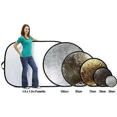 Lastolite 4831 Circular Collapsible Reflector Silver / White 120cm (48inch)