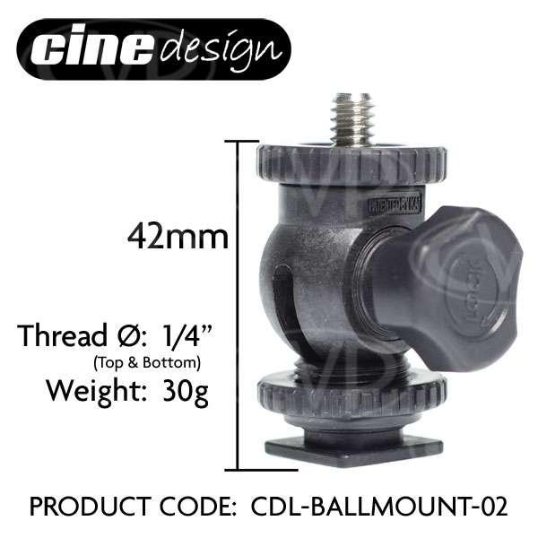 CineDesign CDL-BALLMOUNT-02 lightweight miniature ball-mount