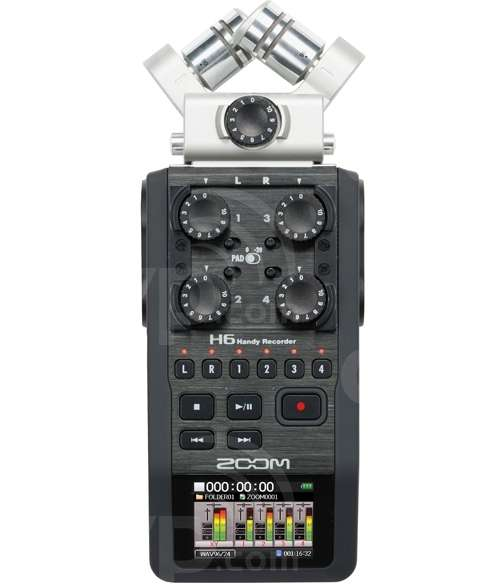 Zoom H6 (H-6) 6 in 2 out Handheld Digital Recorder