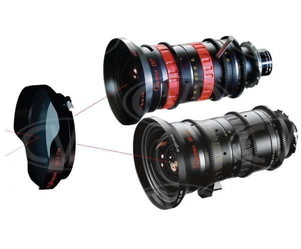 Angenieux 0.75x wide angle adapter for use with Optimo DP