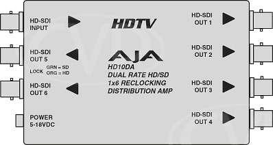 AJA HD10DA Tech Diagram