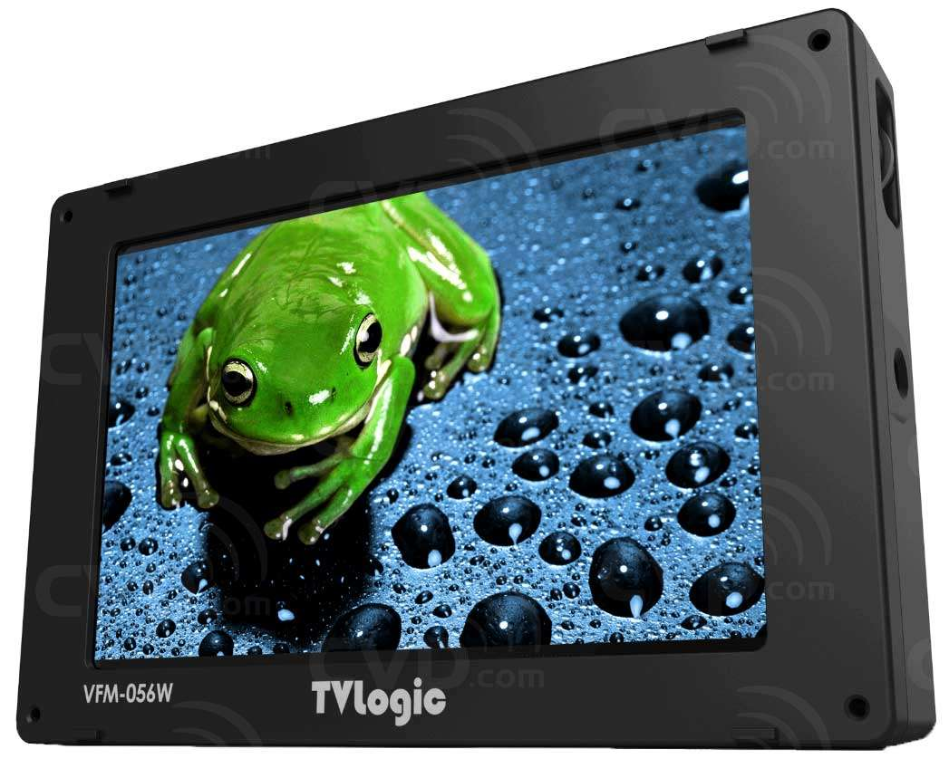 TVlogic VFM-056WP (VFM056WP) high resolution 5.6inch LCD field monitor rear