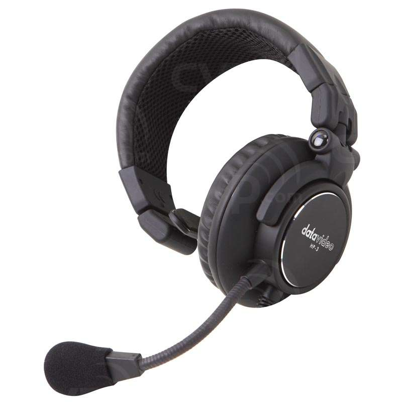 Datavideo DATA-HP3 (DATA-HP3) HP-3 Single Ear Headset for CCU-100 (XLR