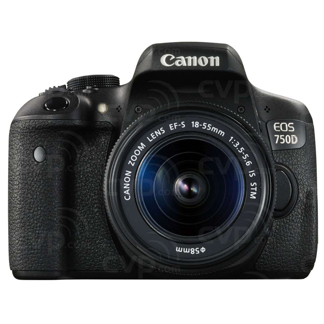 Canon EOS 750D 24.2 Megapixel APS-C Digital SLR Camera with 18-55mm IS STM Lens (Canon p/n 0592C021AA)