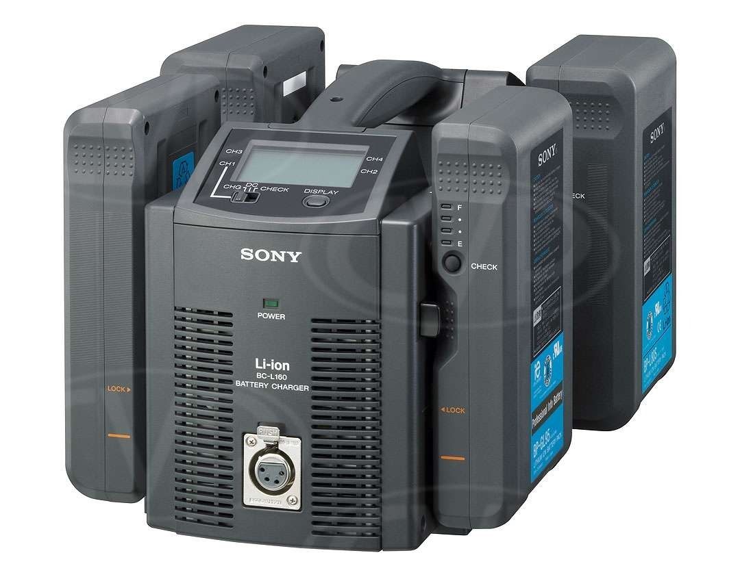 Sony BC-L160 (BC-L160) Quad Li-Ion Battery Charger, DC Out 6A