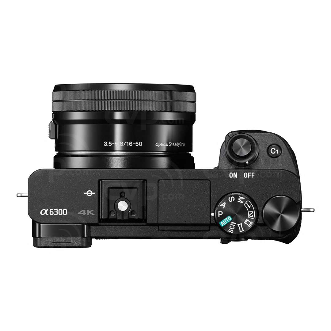 Sony Alpha a6300 Digital Compact System Camera with 16-50mm Power