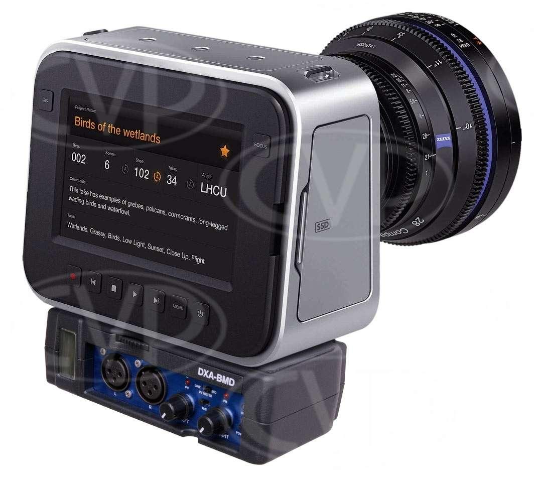 Beachtek DXA-BMD (DXABMD) 2-Channel Blackmagic Cinema Camera Audio Adapter (Passive, VU meter, Phantom)