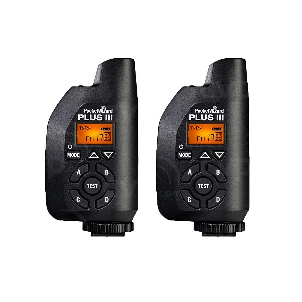 PocketWizard Plus III Transceiver (433MHz) Twin Set (p/n 380113)