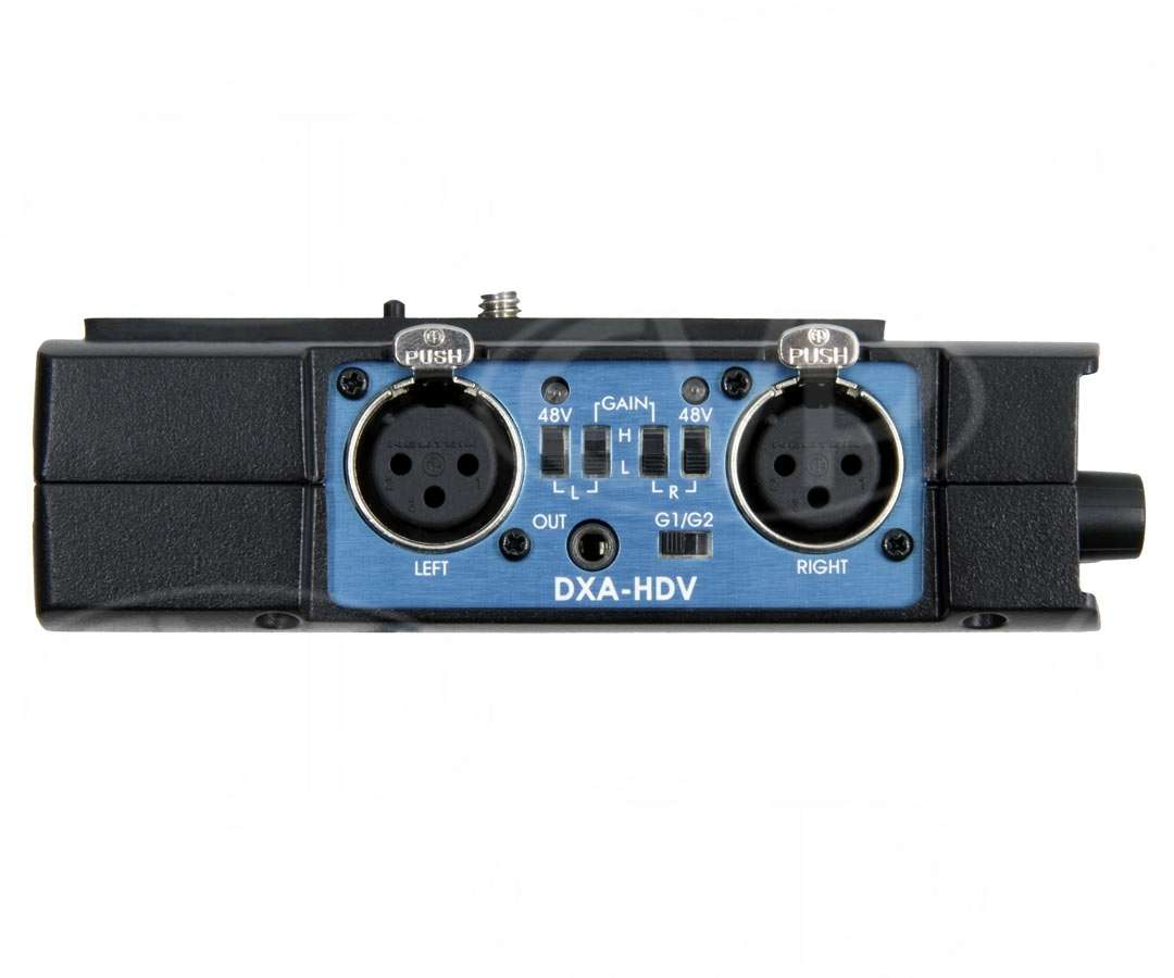 Beachtek DXA-HDV (DXAHDV) High Performance Camcorder Audio Adapter (Preamps, Phantom,