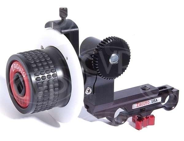 Zacuto Z-Focus follow focus unit c/w 15mm rod mount and