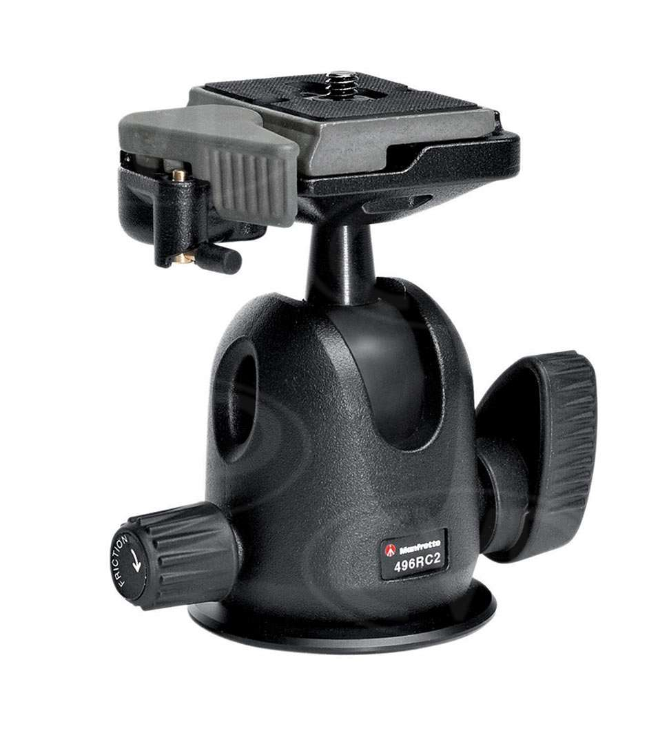 Manfrotto 496RC2 (496-RC2) Compact Ball Head with RC2 system