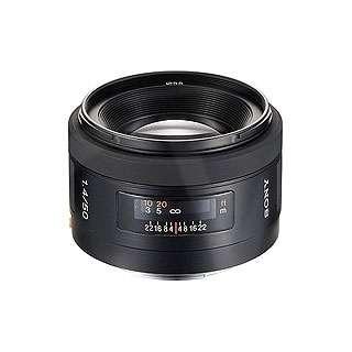 Sony SAL50F14.AE (SAL-50F14) Alpha DSLR 50mm f/1.4 Wide Angle Lens