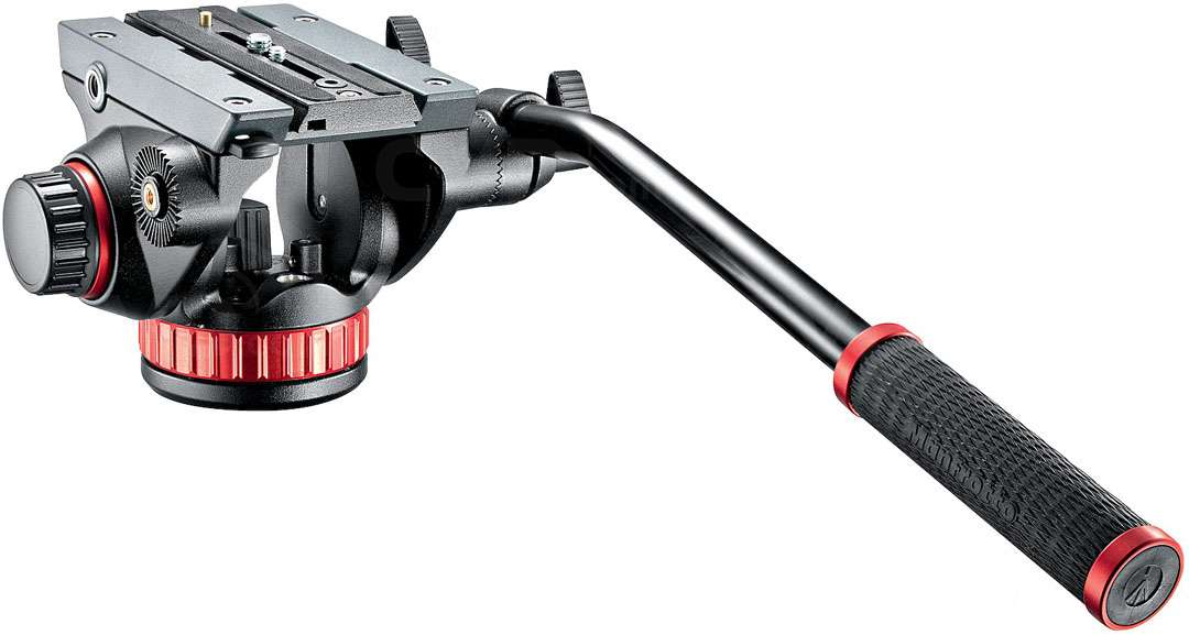 Manfrotto MVH502AH (MVH502AH) Pro Video Head Flat Base (medium size) ideal for camcorders and HDSLR cameras