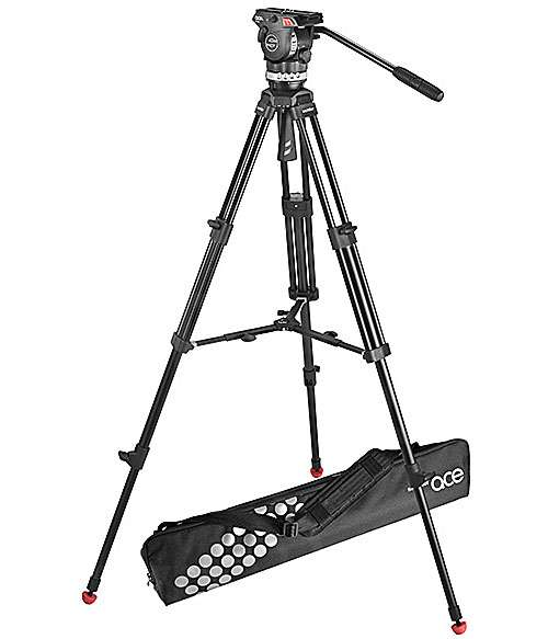 Sachtler ACE M MS System includes Ace Fluid Head, Ace Tripod with mid-level spreader and bag (p/n 1001)