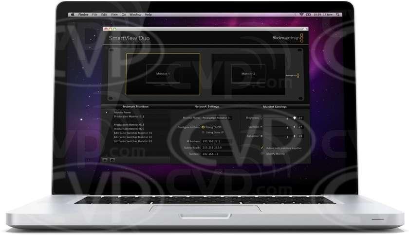 Blackmagic Design SmartView Duo - control software