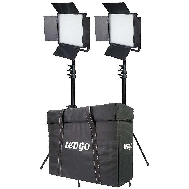 Datavision DVS-LEDGO-900BCLK2 (DVSLEDGO900BCLK2) Dual LEDGO-900 Dual Colour Location Lighting Kit with, 2x Stands and Carry Case