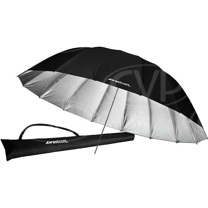 Westcott 4633 7ft Silver Parabolic Umbrella (2.2m) (860364)