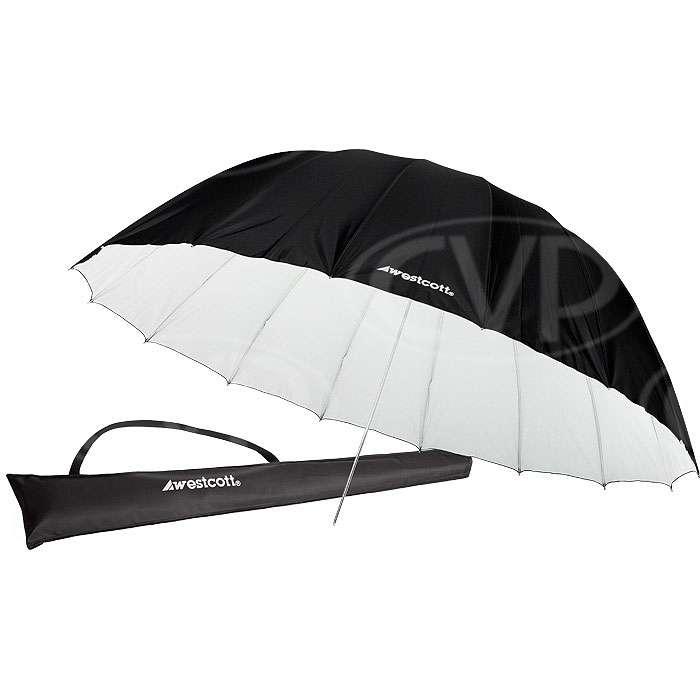 Westcott 4634 7ft White/Black Diffusion Parabolic Umbrella (2.2m) (860365)