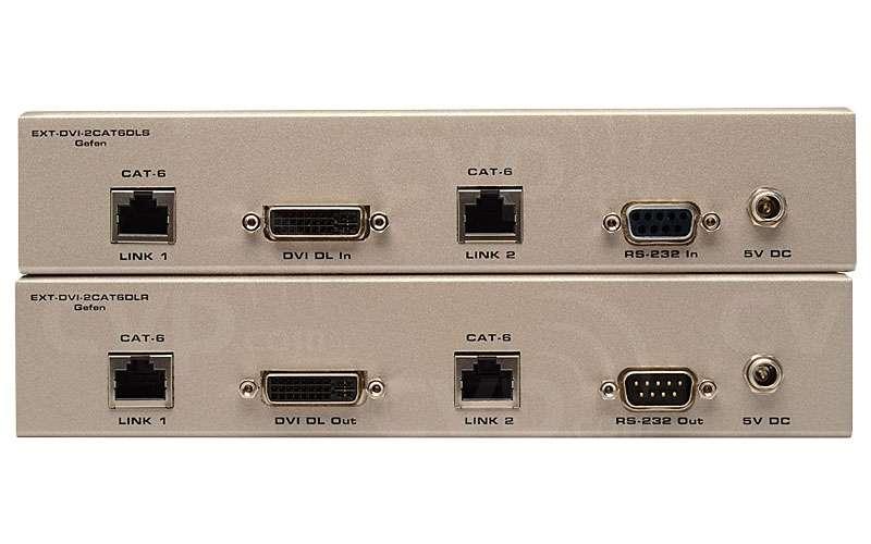 Gefen (EXT-DVI-2CAT6DL) EXTDVI2CAT6DL Dual-Link DVI over 2CAT6 Extender for extending