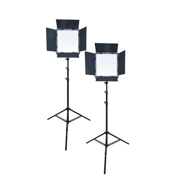 Lishuai LED1024AVLK-2 (LED1024AVLK 2) 2x Daylight LED Light Panels Kit